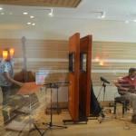 Stefano Senni & Enrico Terragnoli  recording session at Tube Recording Studio.