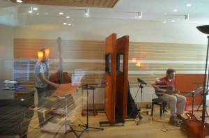 Stefano Senni & Enrico Terragnoli  recording session at Tube Recording Studio.