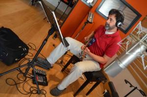 Enrico Terragnoli  recording session at Tube Recording Studio.