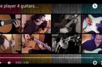 One player 4 guitars…